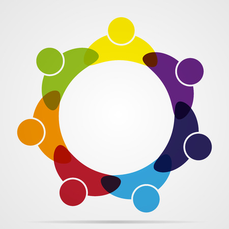 alliance: Business Corporate Abstract people unite friendship, company human  icon emblem