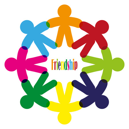 symbol people: Business Corporate Abstract people unite friendship , company human  icon emblem