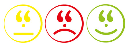 maybe: Colorful cartoon smiley face emoticon set web icon Illustration