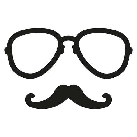 nerd glasses: aviation nerd glasses and mustaches
