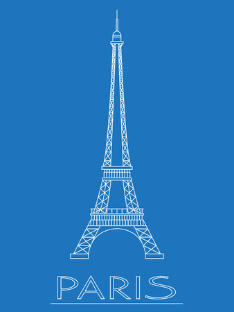Eiffel Tower: World landmarks - Eiffel tower Illustration