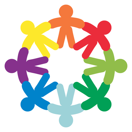 unite: Business Corporate Abstract people unite friendship logo , human company vector emblem