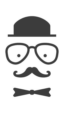 old fashioned: Old fashioned gentleman character accessories. Retro, vintage, hipster vector characterillustration.