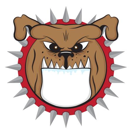 british bulldog: bulldog head cartoon animal icon illustration