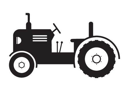 Tractor vehicle farm icon on white background