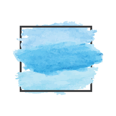 painterly effect: watercolor background. Abstract Banner design element sign with place for message