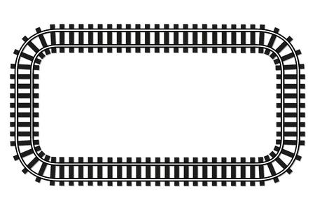 transporte ferroviario marco de pista de fondo borde superior del ferrocarril locomotora wiev con lugar para el texto ilustración de la bandera