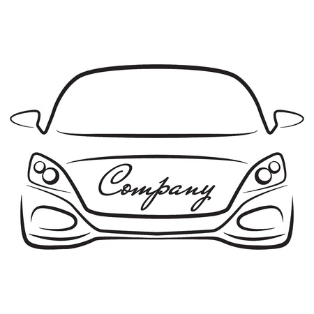 sihlouette: car sihlouette vehicle auto dealer company logo icon Illustration