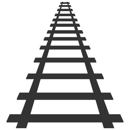 Locomotive railroad track frame rail transport border banner transport illustration.