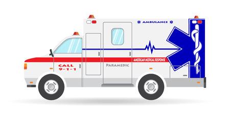 Ambulance vehicle illustration paramedic car emergency auto icon.
