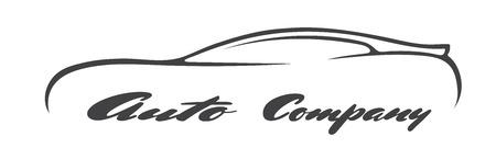 car symbols silhouette auto company dealer vehicle logo vector isolated icon Çizim