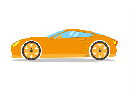 speeding: Race sport car. Supercar tuning coupé auto .Flat style vector transportation vehicle illustration isolated