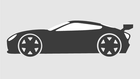 Race sport car silhouette. Super car tuning coupe auto.