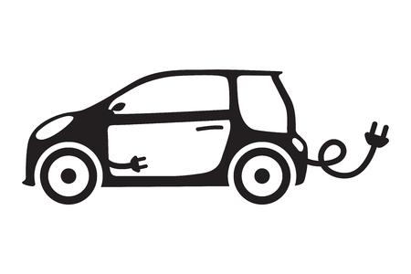 Car ecology isolated vehicle. Çizim