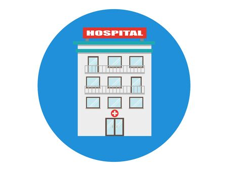 Hospital building vector mdcial icon isolated.