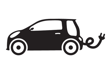car ecology isolated vehicle green concept icon elictric vector auto Çizim