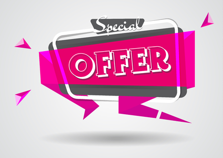 Sale banner special offer sign template.shopping flyers discount banner vector poster illustration