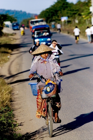 Lao is the country in asian,people are very nice Tody tourism in lao Stock Photo - 15132714