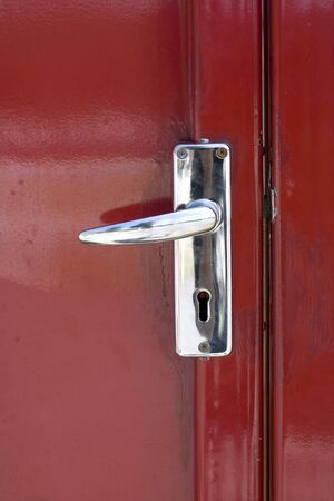 Metal Handle Door Locker  and The Red Door photo