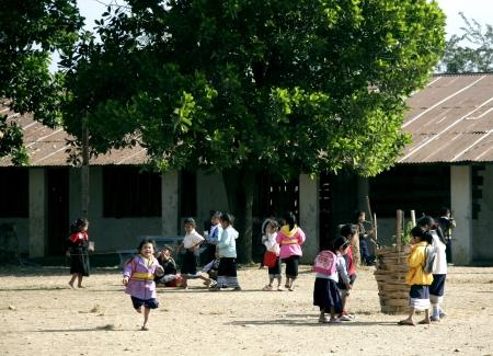 lao: Lao enfants dans l'action ? Loa Village, lao est un pays ? AEC. �ditoriale