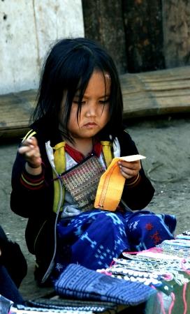 lao: Lao enfants en action � Loa Village, lao est au Pays de l'AEC.