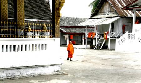 lao: La RDP Lao Temple Monk et au Laos Life Style. �ditoriale