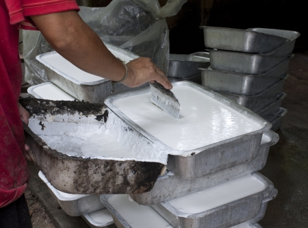 rubber sheet: Make Rubber Sheet from Latex Latex from Rubber Tree Plantation Rubber in Thailand