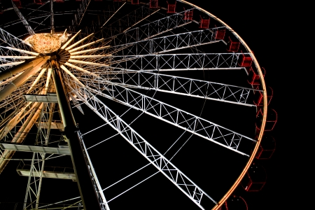 playthings: The Ferris wheel, feverish plaything and expression with the bird eye view  Stock Photo