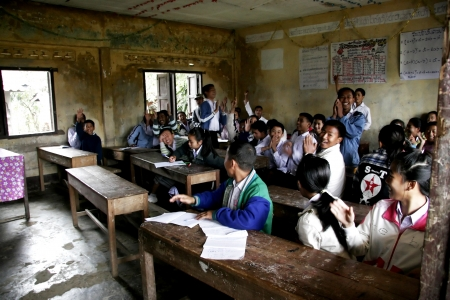 non uniform: Laos Student in Laos School non uniform Laos is Country in AEC