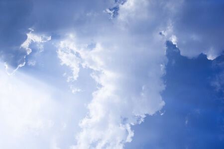 joyfully: White cloud on joyfully Blue Sky.Cloud full on sky look still and reticence