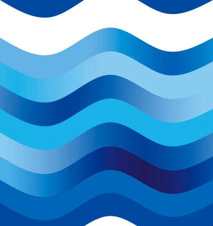 ondulation: illustration Motif de la vague en bleu indigo et shade.May �tre effacer en haut de l'image pour la zone de texte.