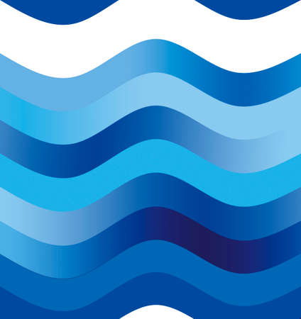 undulation: illustration Pattern of wave in blue and indigo shade.May be erase top of  picture for text area.