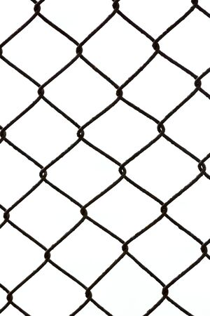 forbid: Rust net on white background.net for forbid area. Stock Photo