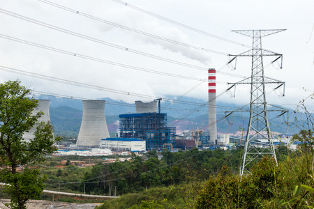 powerhouse: Laos - APRIL 12, 2015 : Power plant at north of Laos.Today Laos has been named as battery of Asia. Editorial