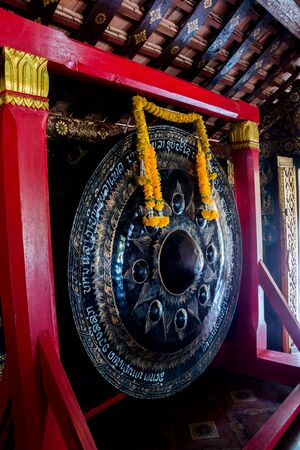 mention: LUANG PRABANG,LAOS - 12 APRIL 2015 : Ancient Art in temple at Louang Phabang, The old capital of Laos,Center of traditions,buddhist religious and country of world heritage.