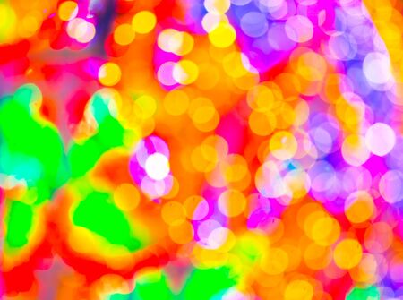 colourful lightings: Colorful Bokeh with out of focus point to color lighting in cycle shape. Stock Photo