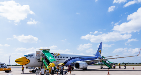 cheapness: Khon Kaen,Thailand - November 5, 2015 : Low cost airline domestic,Now the popular because cheapness,convenient and for a moment expedition. Editorial