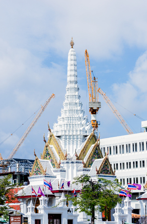 BANGKOK, Thailand - SEPTEMBER 25, 2015 : Unseen ancient building and more favorite landmark around the Royal Grand Palace are the main revenue business travel in Thailand. Editorial