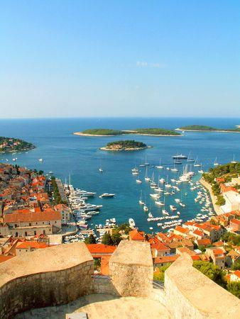 Hvar, Croatian coast Stock Photo