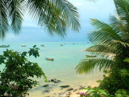 pulau: Small harbour on the Pulau Perhentian island Stock Photo