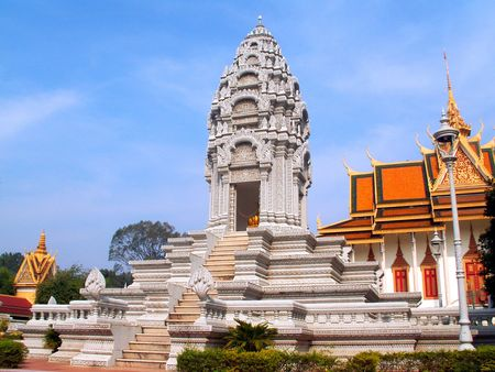 phnom penh: Silver Pagoda, Stupa of Princess Kantha Bopha, Phnom Penh, Cambodia