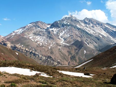 highest: Aconcagua, the highest peak in Andes, Argentina Stock Photo