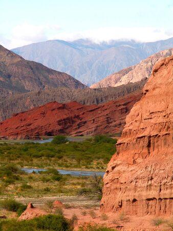 canyon walls: Colorful rocks in Quebrada de Cafayte, northern Argentina