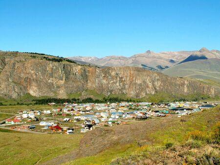 chalten: Small El Chalten village in Argentinian Andes