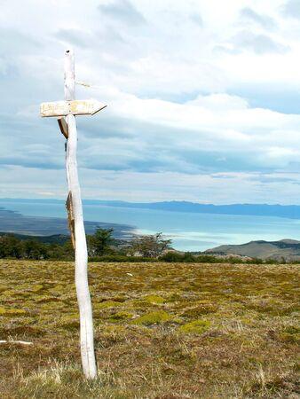 chalten: Argentinian Andes near El Chalten village