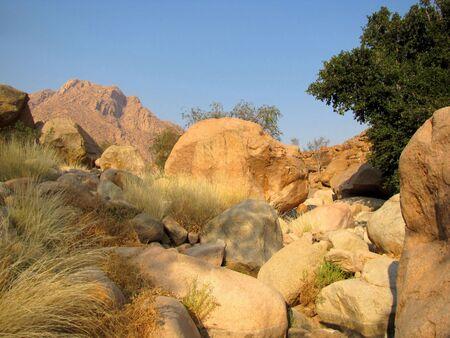 Rocky landscape in Brandberg massif, Namibia Stock Photo - 6044350