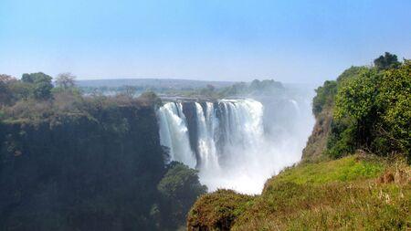 zimbabwe: Victoria Falls seen from the side of Zimbabwe