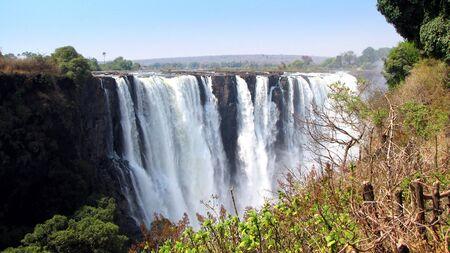 simbabwe: Victoria Falls von der Seite von Simbabwe