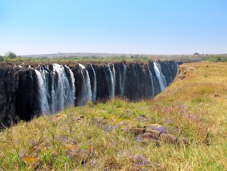 Victoria Falls seen from the side of Zimbabwe Stock Photo - 6591567