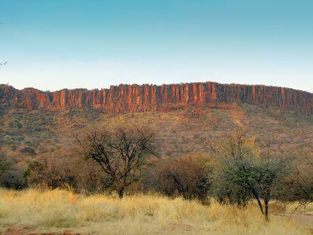 plateau: Red rocks of Waterberg Plateau, Namibia